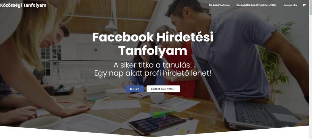 Facebook hirdetéskezelés mesterfokon