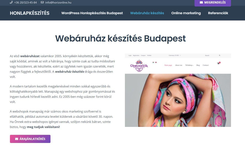 prémium webshop készítése
