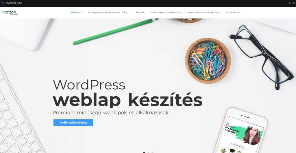 Egyedi WordPress honlapkészítés
